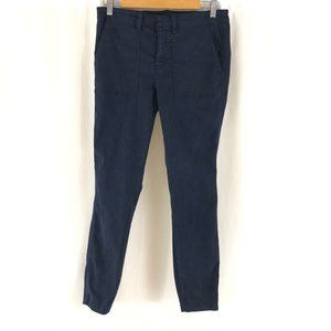 J Crew Womens Pants Skinny Khaki Navy Blue 29T